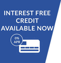 Interest free credit available until January 31st