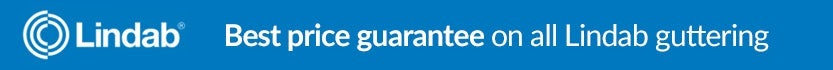 Best price guarantee on all Lindab guttering products