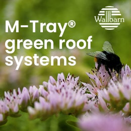 Wallbarn M-Tray green roof
