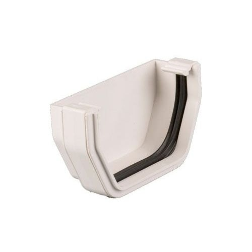 Plastic Guttering Square Style External Stopend 114mm