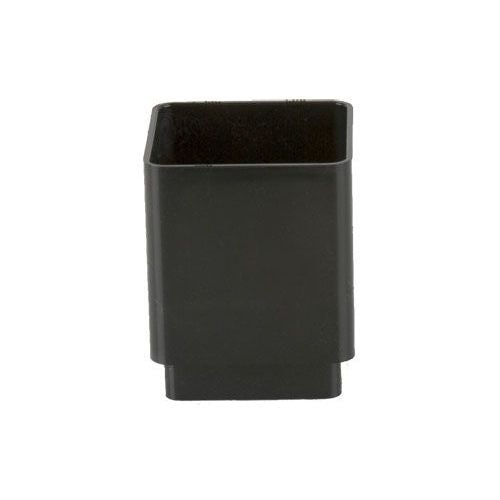 Plastic Guttering Square Downpipe Connector 65mm Black