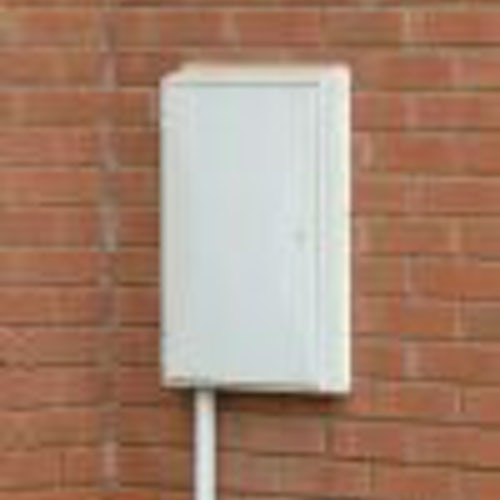 Electricity Meter Box Plastic Semi Recessed for New Installation