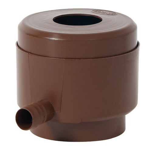 Water Storage Tank Round Downpipe Filling Device - Brown