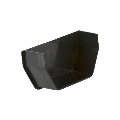 Plastic Guttering Square Style Internal Stopend 114mm - Black