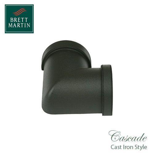 Cascade Iron Style 115mm Plastic Deepstyle 90dg Angle - Black