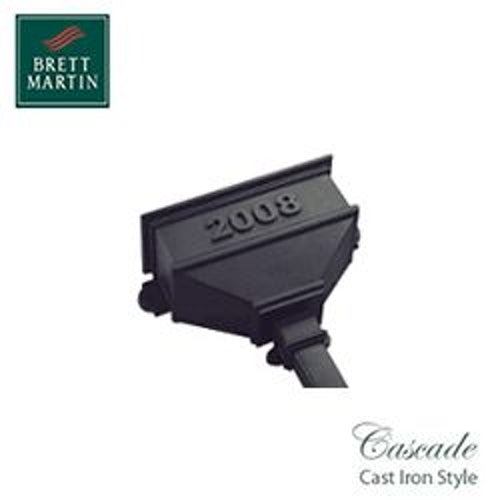 Cascade Cast Iron Style 65mm & 68mm Long Hopper Dated (Black)