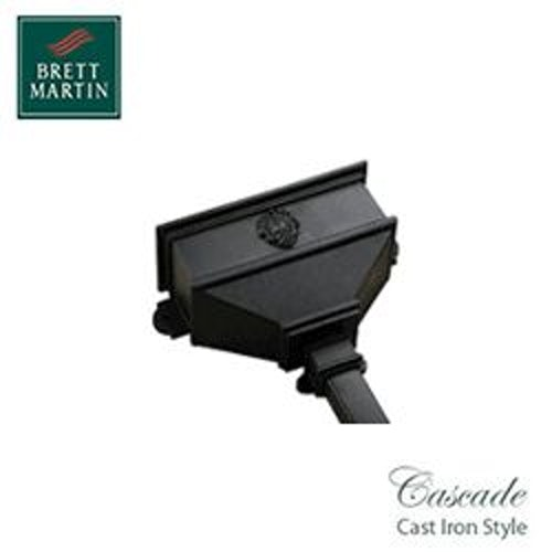 Cascade Cast Iron Style 65mm & 68mm Long Hopper With Shell (Grey)