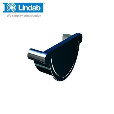 Video of Lindab Half Round Right Handed Stop End 190mm Painted Black