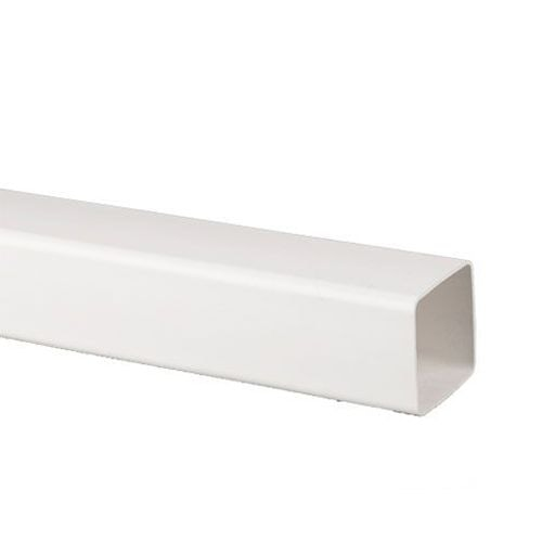Plastic Guttering Square Downpipe 4m Length 65mm - White