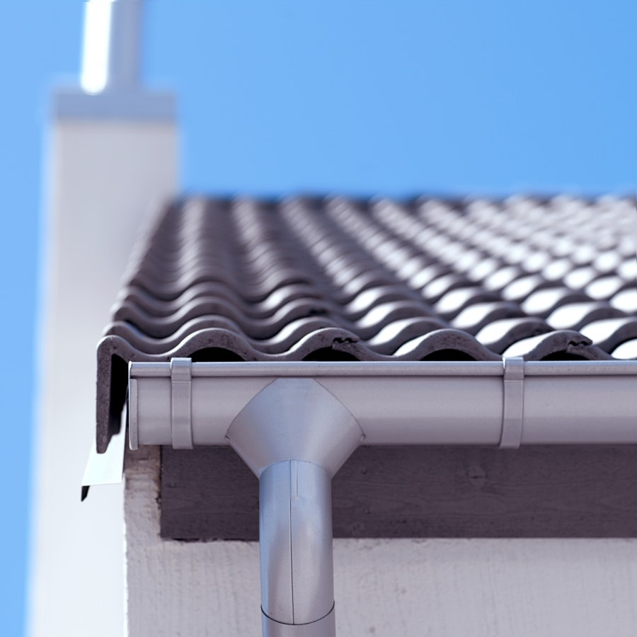 Lindab Guttering Round Downpipe 87mm X 3m Painted Silver