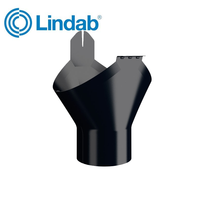 Video of Lindab Half Round Gutter Outlet 125mm Painted Black