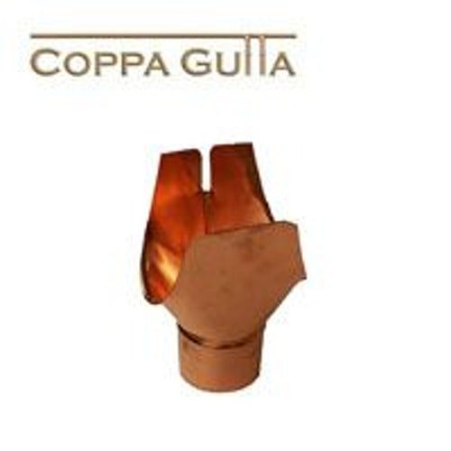 Copper Guttering Large Swiss Outlet 100mm