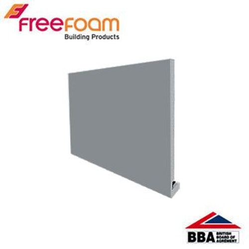 uPVC 200mm Replacement Fascia Board (18mm Square Edge) 5m - Storm Grey