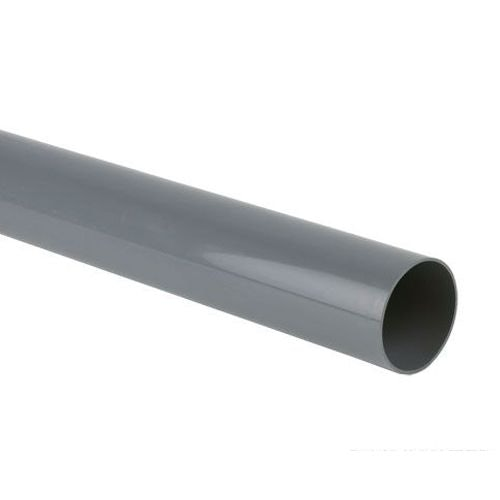 Plastic Guttering Industrial Downpipe 6m Length 110mm - Grey