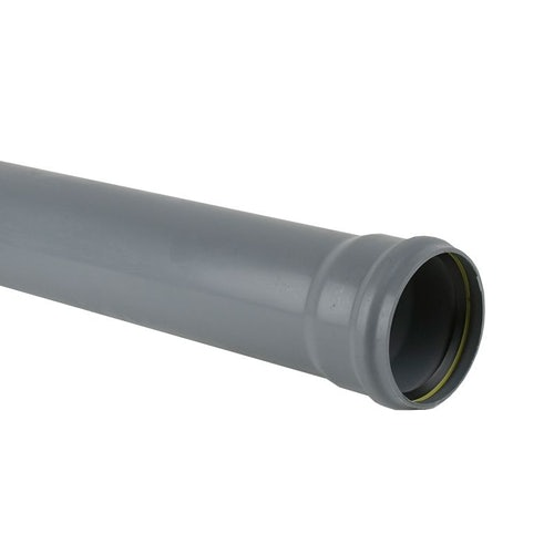 Plastic Guttering Industrial Downpipe Socketed 6m Length 110mm - Grey