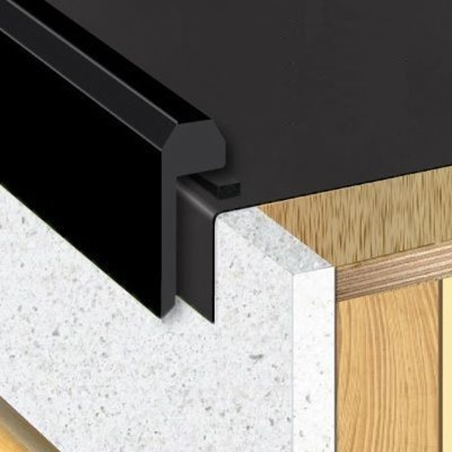 Sure Edge uPVC Raised Edge Trim for EPDM Roof Systems - 2.5m Length