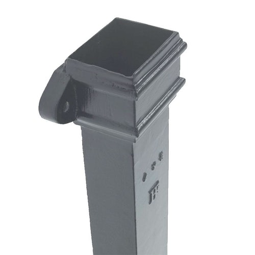 Cast Iron Downpipe Rectangular Eared 100mm x 75mm - 1.8m Primed