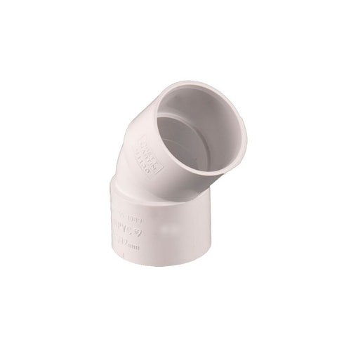 Waste Pipe Solvent Weld 135dg Obtuse Bend 40mm - White