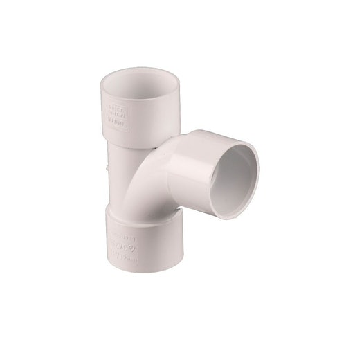 Waste Pipe Solvent Weld 92.5dg Swept Tee 50mm - White
