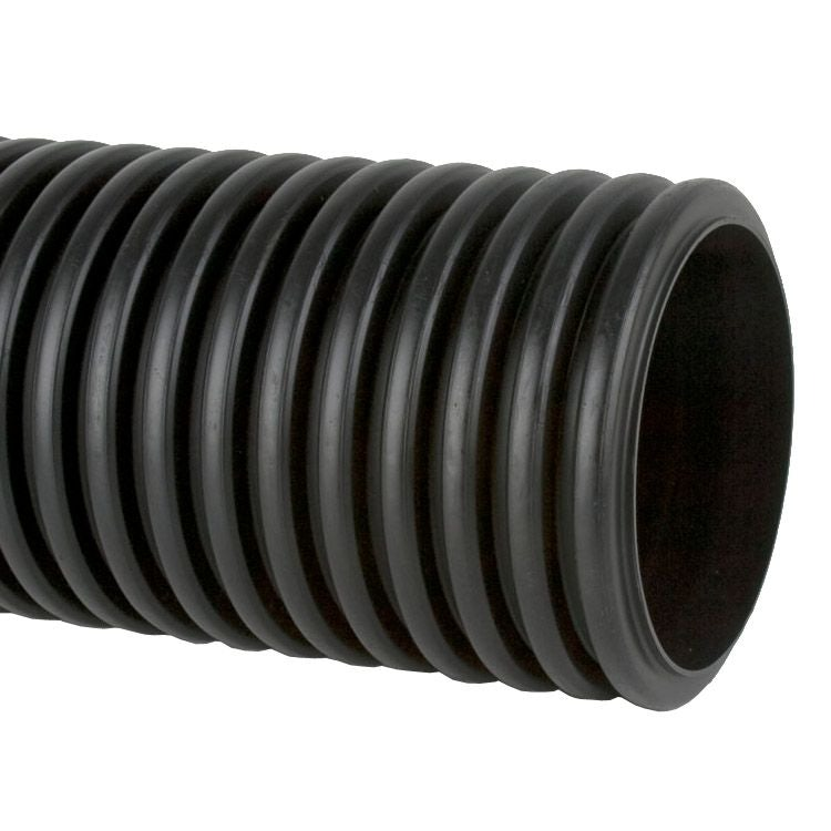 Perforated Twinwall Surface Water Drain Pipe 6m - 150mm