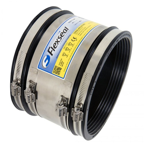 Flexseal 175mm to 200mm Rubber Flexible Standard Drainage Coupling