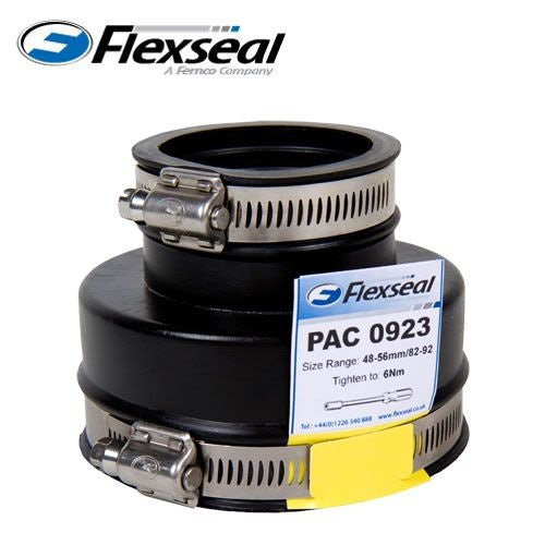Video of Flexseal 43mm to 28mm Rubber Plumbing Drainage Adaptor Coupling