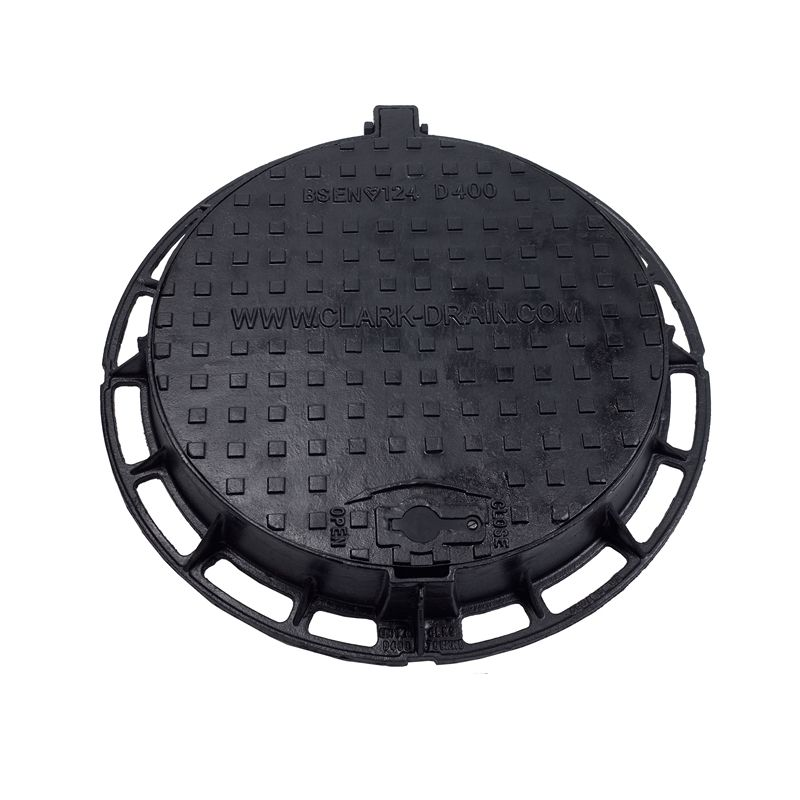 Hinged Manhole Covers : Circular hinged manhole cover and frame mm d load