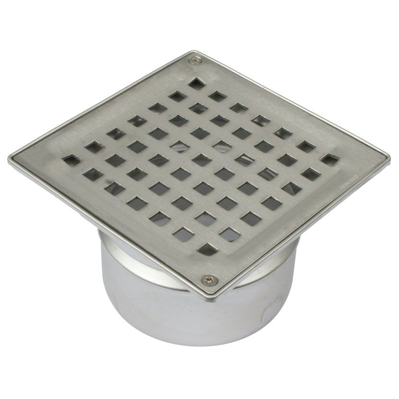 Video of Shower Floor Drain Square Drain Stainless Steel 110mm With Water Trap
