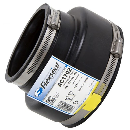 Flexseal 115mm to 75mm Rubber Flexible Drainage Adaptor Coupling
