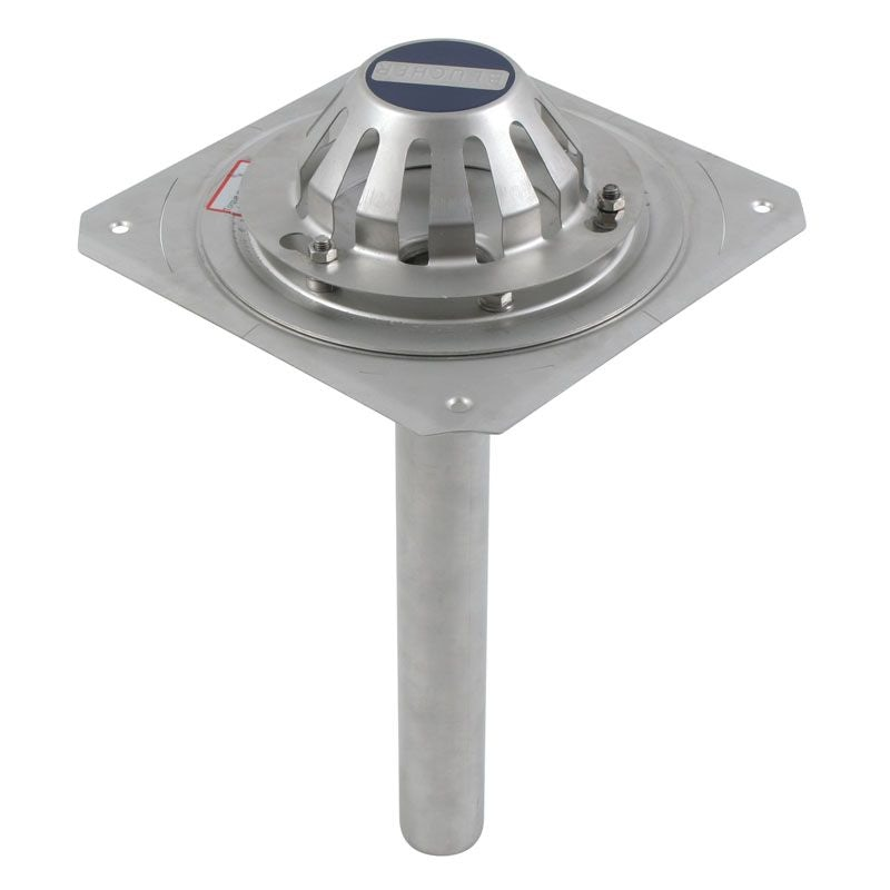 Roof drain short vertical outlet stainless steel mm