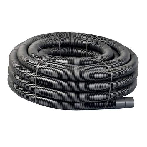 Underground Electric Power Cable Ducting Coil 32/40mm x 50m Black