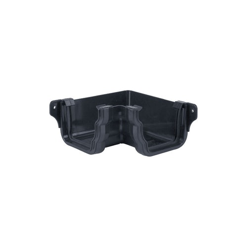 Plastic Guttering Ogee Prostyle 90 Degree Internal Angle - Anthracite