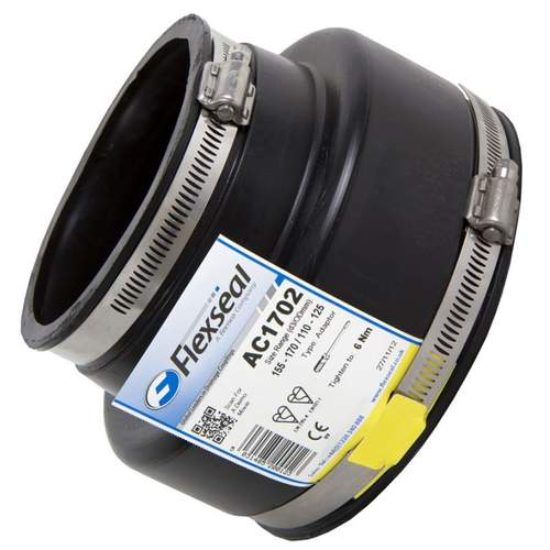 Flexseal 210mm to 160mm Rubber Flexible Drainage Adaptor Coupling