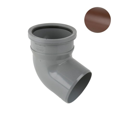 Soil Pipe Push Fit Single Socket Bend 135dg 110mm - Brown