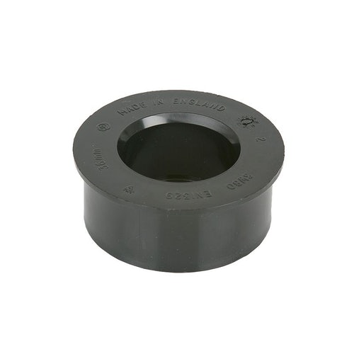 Soil Pipe Solvent Weld 32mm Boss Adaptor 82.4mm - Black