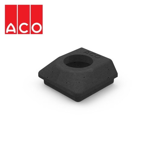 ACO Hexdrain Downpipe to Channel Drain Connector 68mm - Black