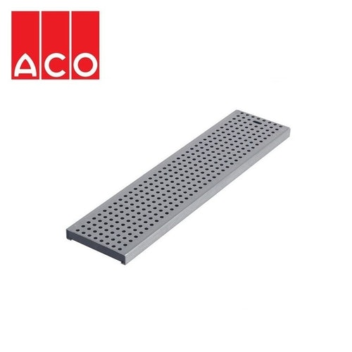 Channel Drain Stainless Steel Perforated Grate 1000mm -ACO Modular 125
