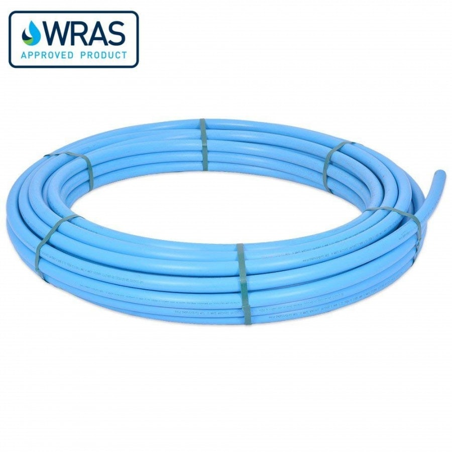 MDPE Blue Pipe Coil Main Water Supply - 20mm x 100m | Drainage ...