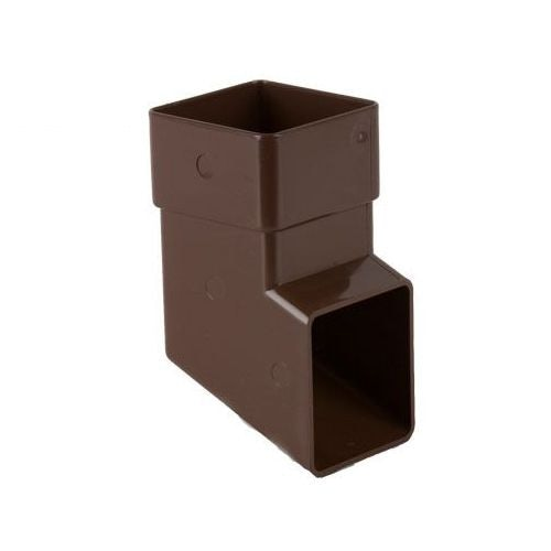 Plastic Guttering Square Downpipe Shoe 65mm - Brown