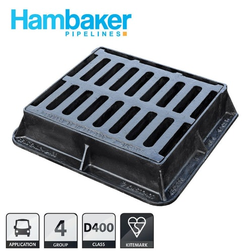 Hinged Cast Iron Gully Grid Cover 435l X 380w X 100h