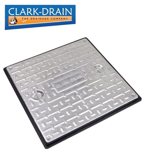Clark Drain 10 Tonne GPW Double Sealed Manhole Cover and Frame 600 x 600 x 30mm