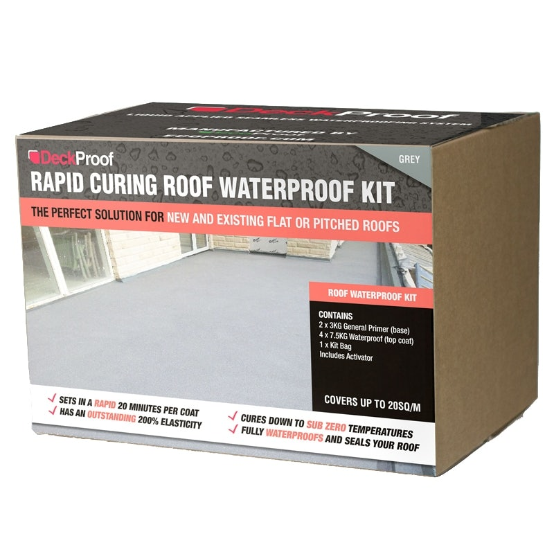 Waterproofing roofing balcony kit rapid curing grey for Balcony upstand