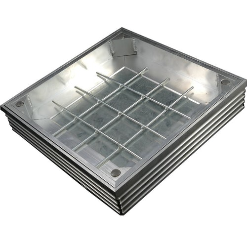 EcoGrid Aluminium Double-Seal Recess Manhole Cover - 750 x 600 x 48mm