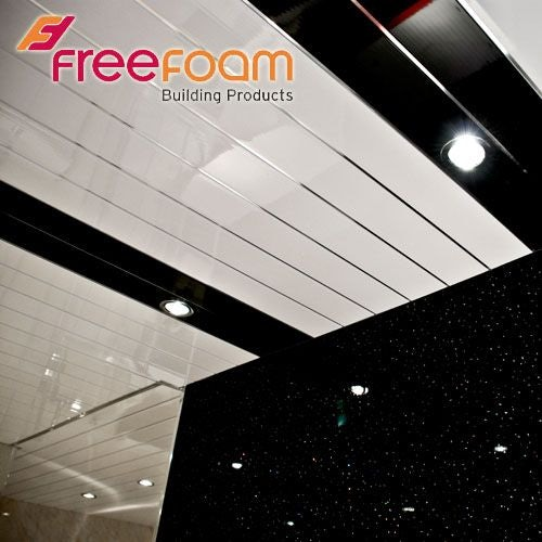 Geopanel Ceiling & Wall Panel (2 Strip) in White/Silver - 250mm x 2700mm