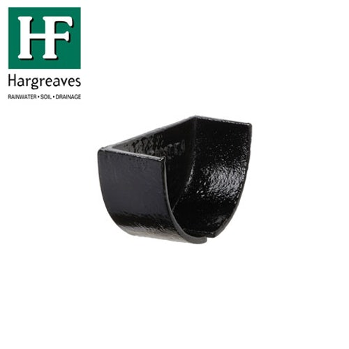 Cast Iron Deep Style Guttering Internal Stopend 125mm - Black Finish
