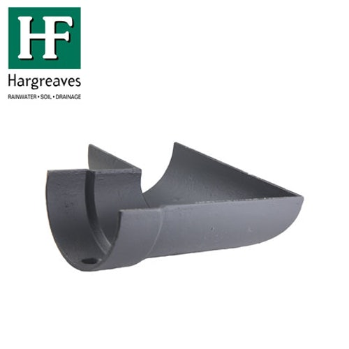 Cast Iron Deep Style Guttering 90Dg Left Hand Angle - 125mm Primed