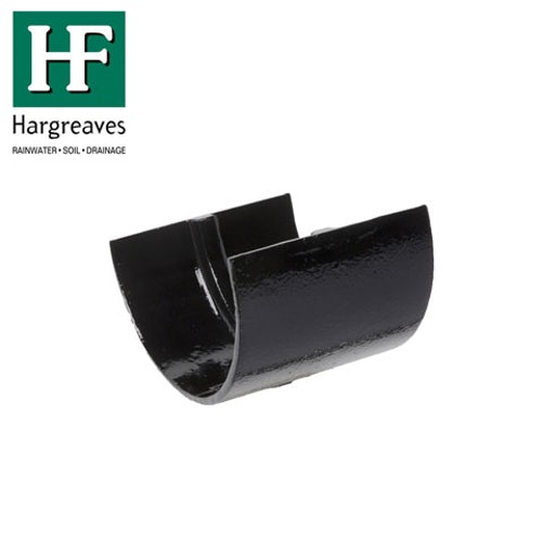 Cast Iron Deep Style Guttering Union Joint 125mm - Black Finish