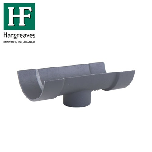 Cast Iron Half Round Guttering Running 150x75mm Outlet - Primed Finish