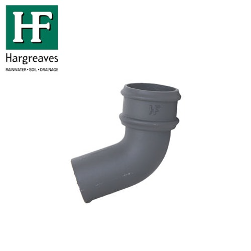 Cast Iron Round Downpipe 112.5dg Bend 75mm - Primed Finish