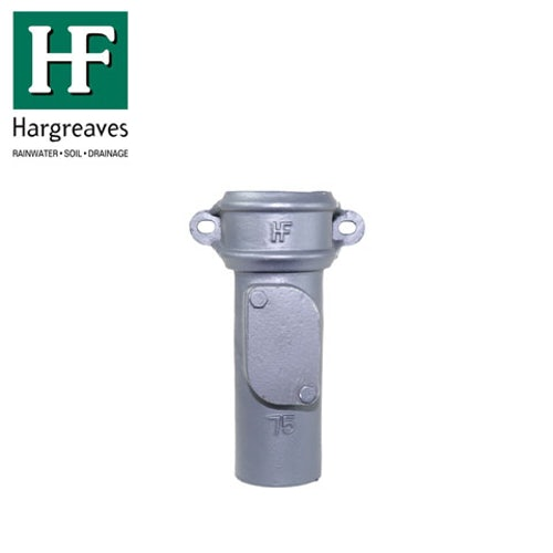 Cast Iron Round Downpipe Eared Access Point 75mm - Primed Finish